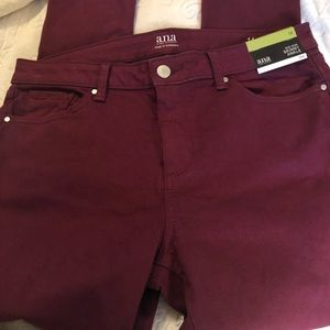 Wine colored skinny jeans size 14
